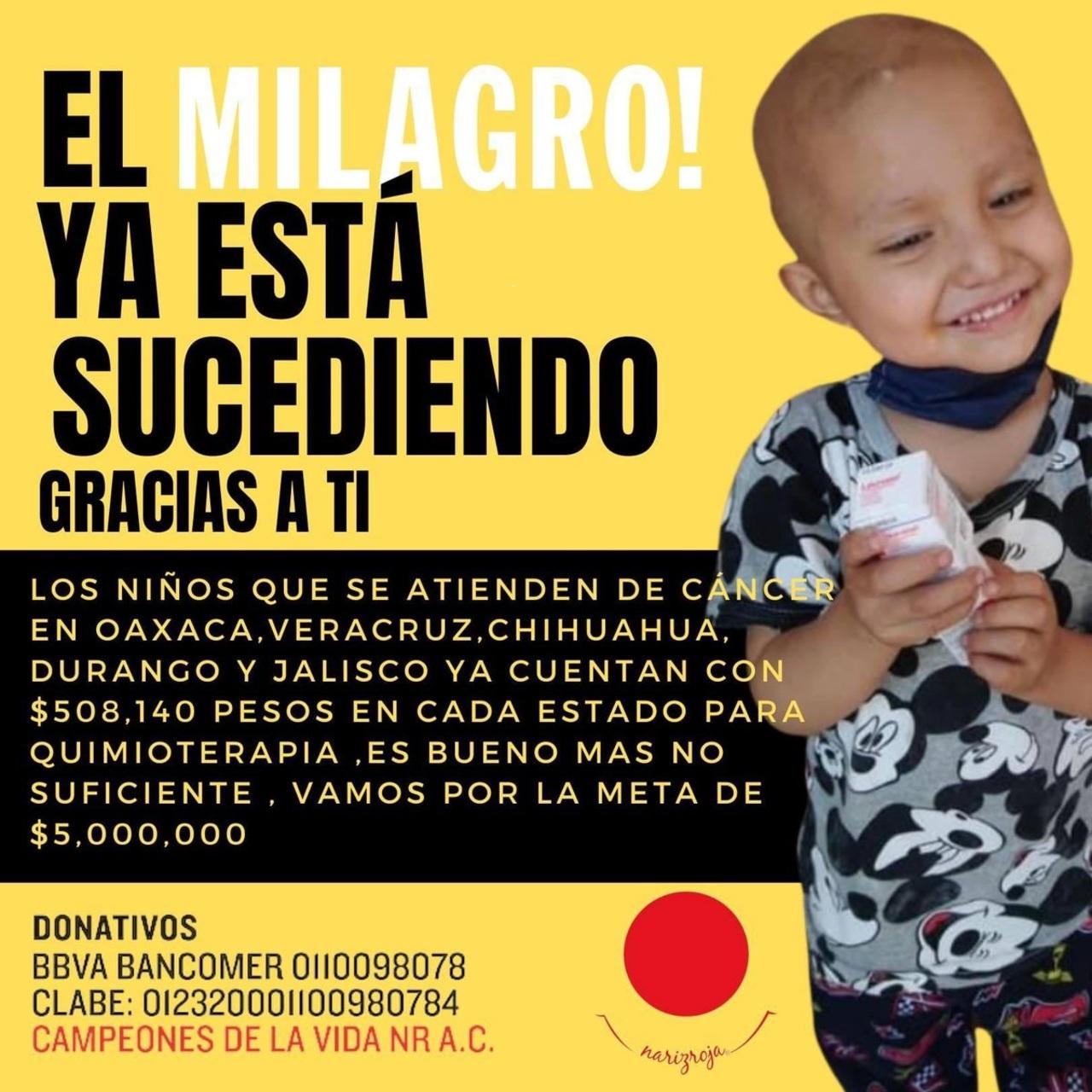 Continúa campaña Milagro, por niños con cáncer en Durango