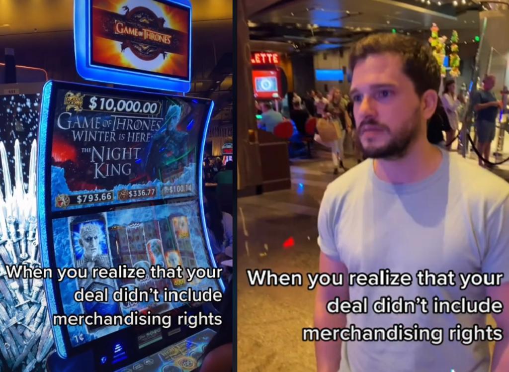 Kit Harington se hace viral por su reacción a una máquina tragamonedas 'Game of Thrones'