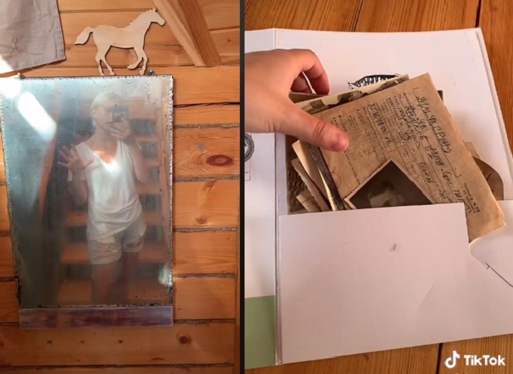 Joven encuentra 'tesoro familiar' en espejo que restauraba