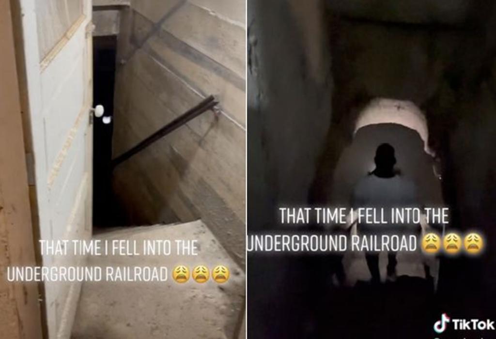 Hombre encuentra entrada de ferrocarril en el sótano de su casa
