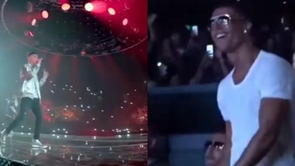 VIDEO: ¿Cristiano Ronaldo en concierto de Natanael Cano?