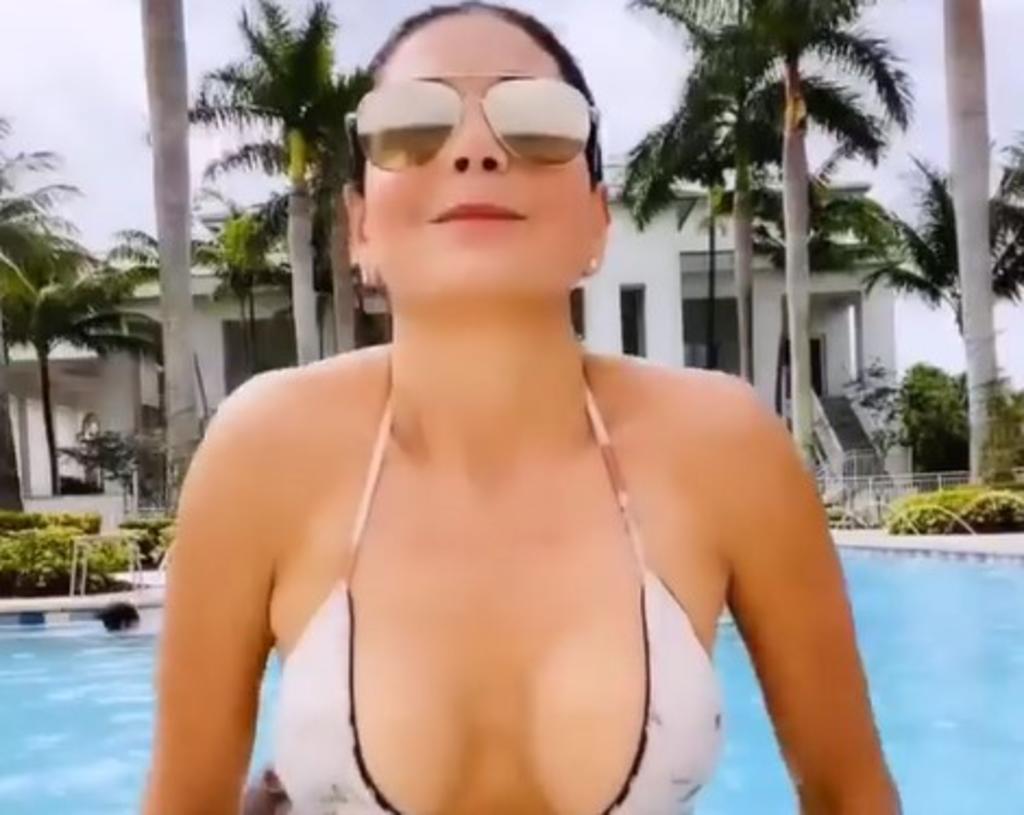 Hijo de Paty Manterola la interrumpe mientras graba 'sensual' video