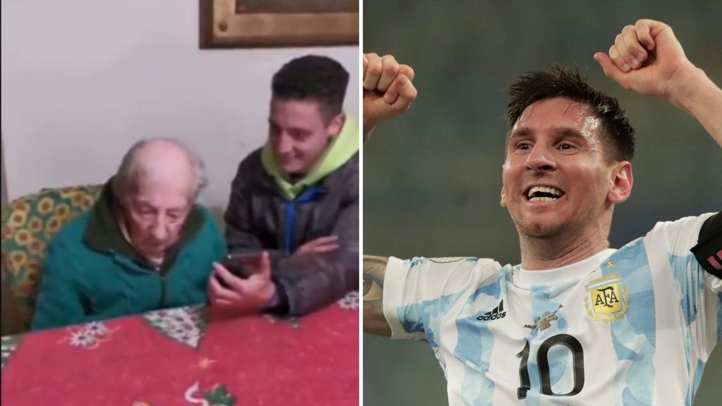 VIDEO: Messi lanza emotivo mensaje a fanático de 100 años que anota en libretas todos sus goles