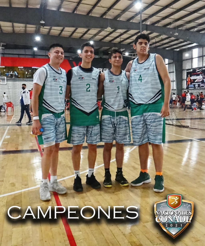 Laguneros brillan en basquet 3x3 en los Juegos Nacionales Conade