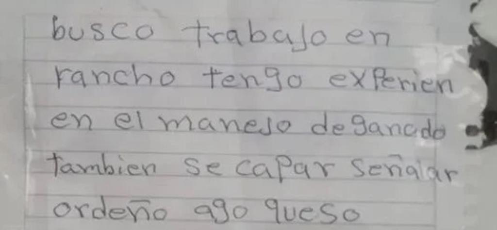 VIRAL: Hombre en Sonora escribe su currículum a mano y le llueven ofertas de empleo