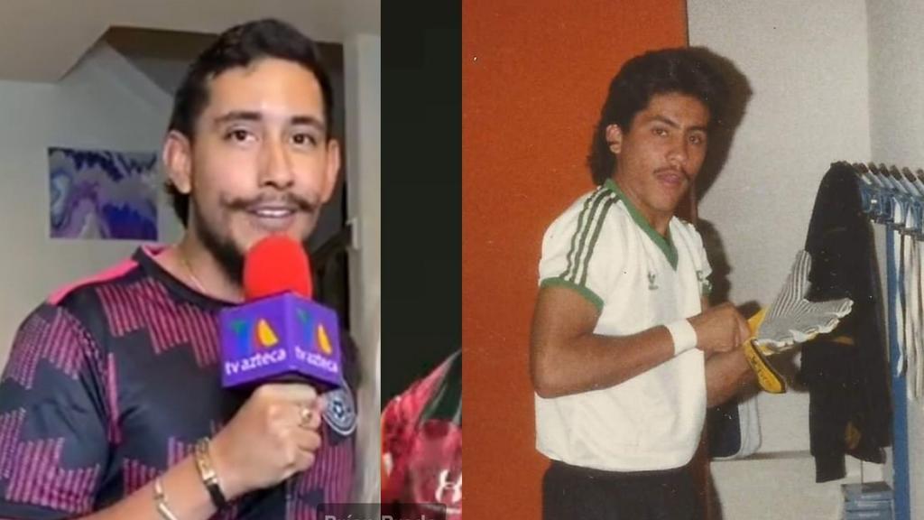 Christian Martinoli compara antiguo look de Jorge Campos con el 'Toluco', quien se hizo viral en partido de México