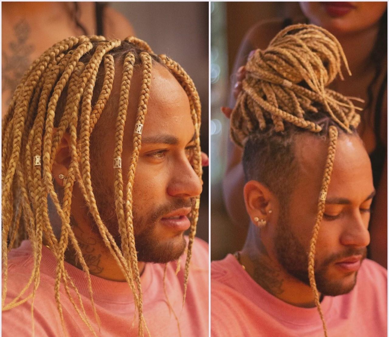 Neymar sorprende al aparecer con cabello largo