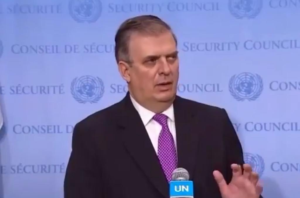 México denuncia en la ONU el embargo de EUA a Cuba y otras sanciones
