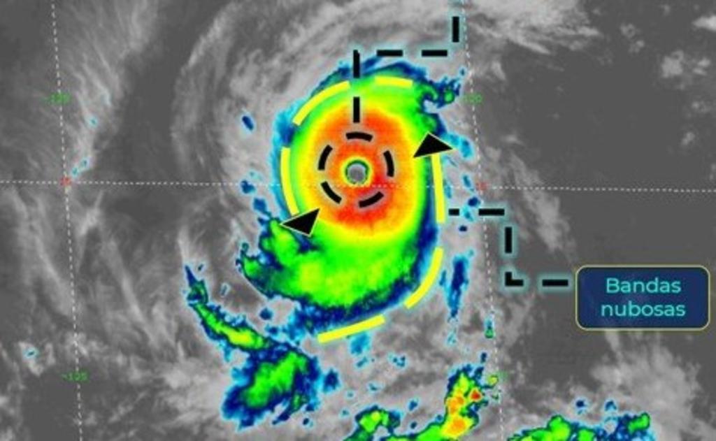 El huracán 'Felicia' gana fuerza frente a las costas de México