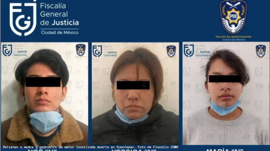 Tres familiares son detenidos por presunto homicidio de la pequeña Isabel en Cuautepec