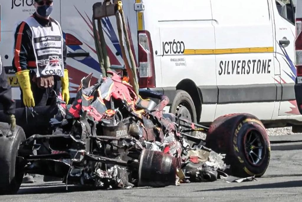 Max Verstappen sufre accidente durante el Gran Premio de la F1 de Gran Bretaña