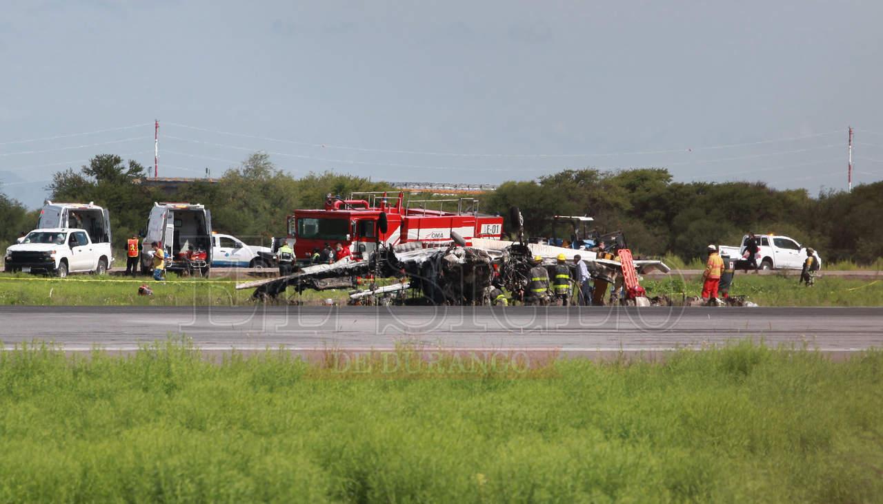 Un muerto y un lesionado, resultado de 'avionetazo' en aeropuerto de Durango