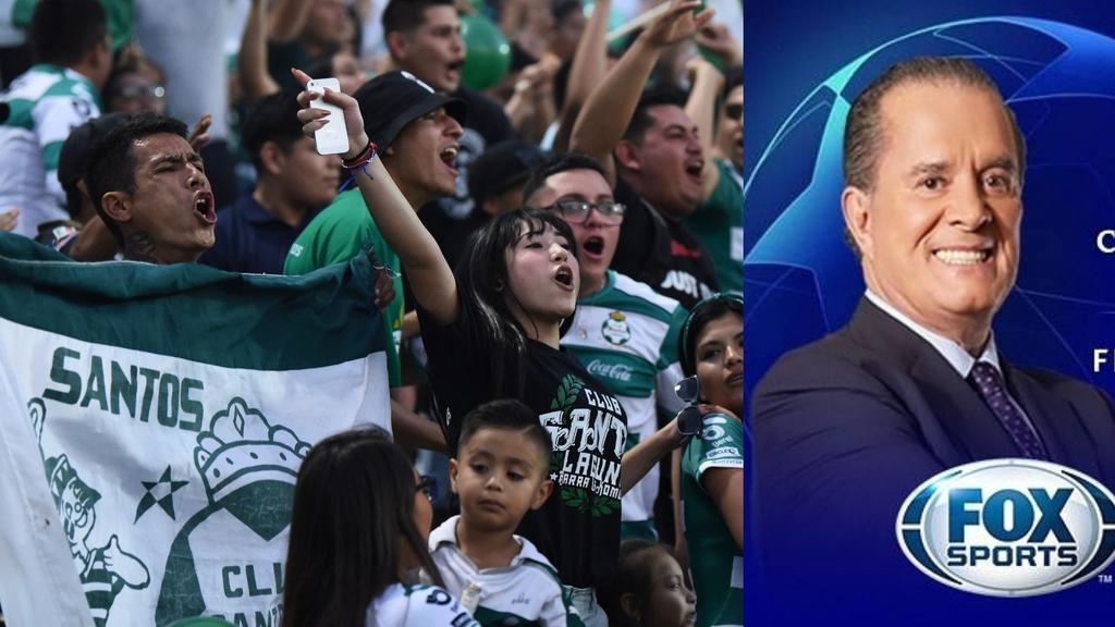 Afición 'se despide' de Raúl Orvañanos tras separación entre Fox Sports y SantosLaguna