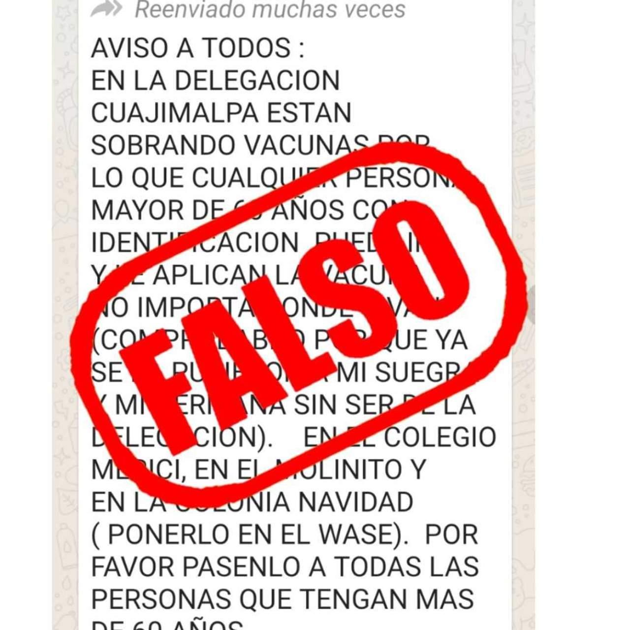 Alertan por mensaje falso de vacunas antiCOVID para robar cuentas de WhatsApp
