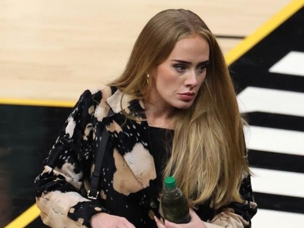 Adele aparece en partido de la NBA; sigue 'impactando' con su transformación