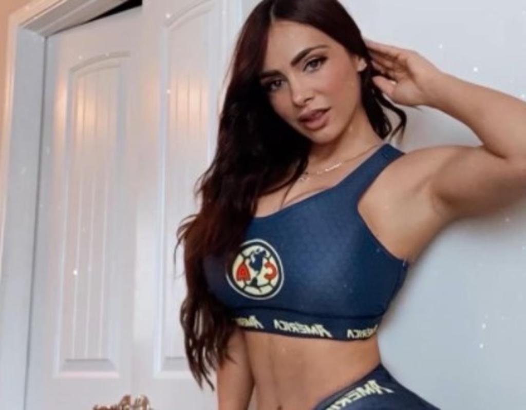 Analy Bazán, la aficionada de Club América que enmora con su silueta