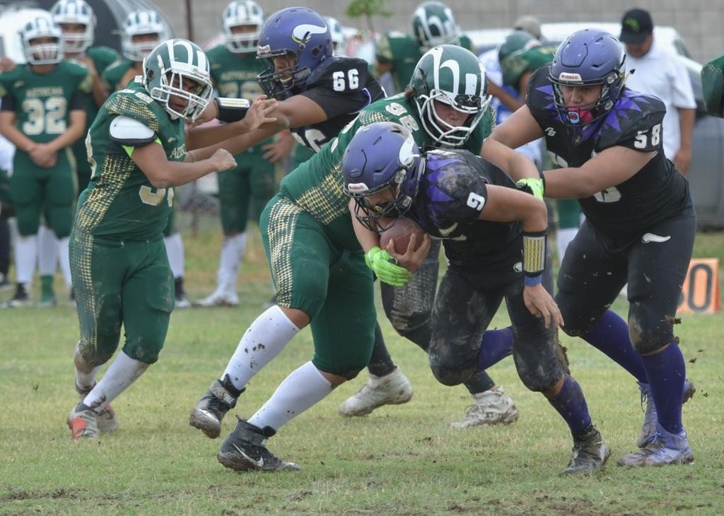 Dominan Gigantes, Panteras y Vikingos en Asociación de Futbol Americano Infantil de La Laguna