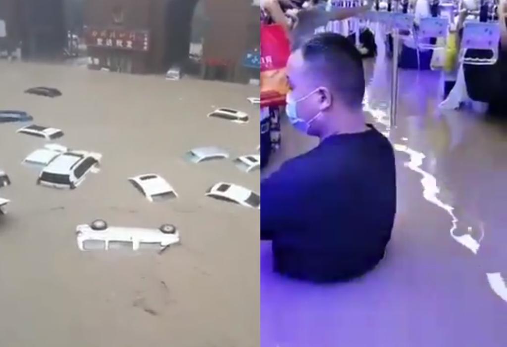 Comparten videos de las inundaciones en China por 'extraordinarias' lluvias