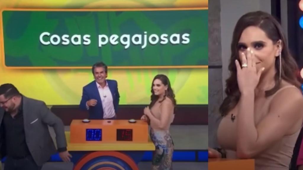 Tania Rincón dice vulgaridad en TV abierta al señalar 'cosas pegajosas'