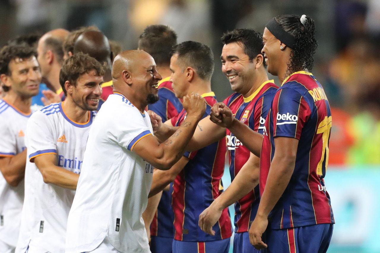 Así se vivió el Clásico de Leyendas del Barcelona y Real Madrid en Tel Aviv