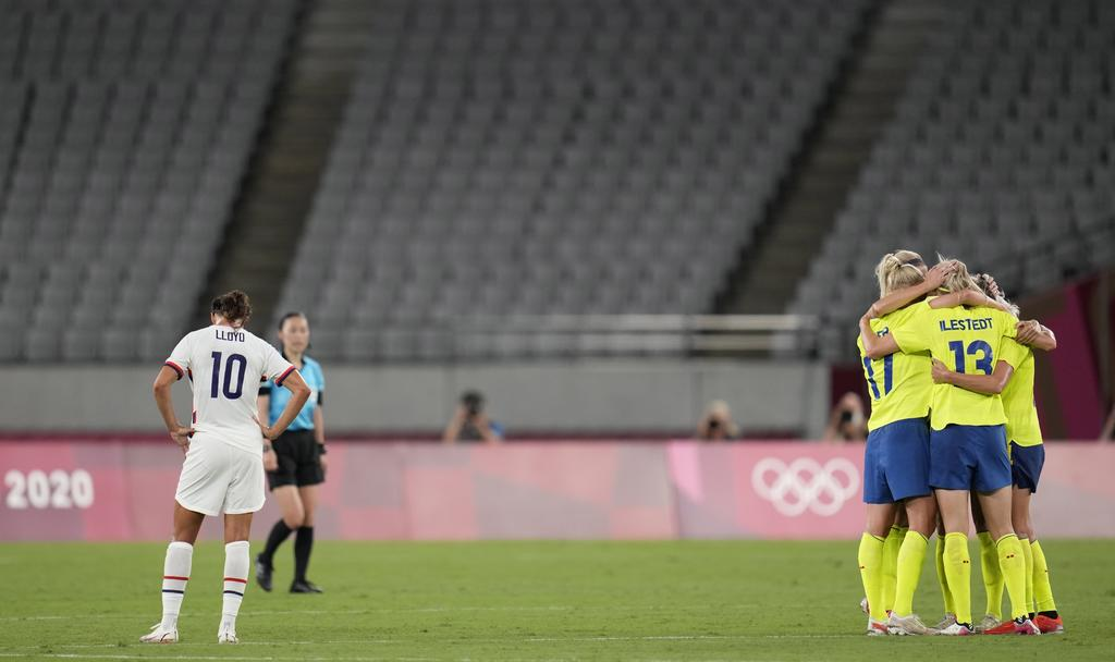 Suecia sorprende con victoria ante EUA en el torneo femenil de futbol en Tokio 2020