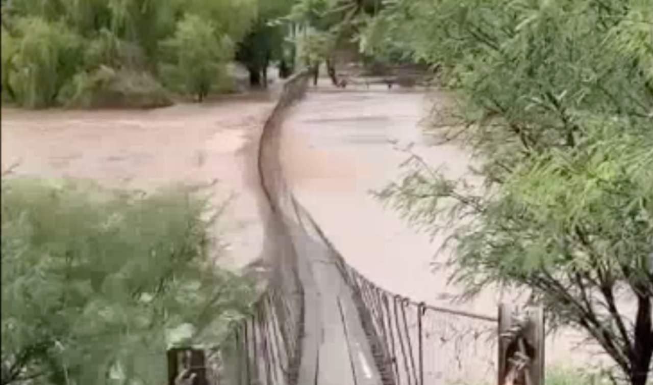 (VIDEO) Circula video de río crecido en Rodeo, Durango