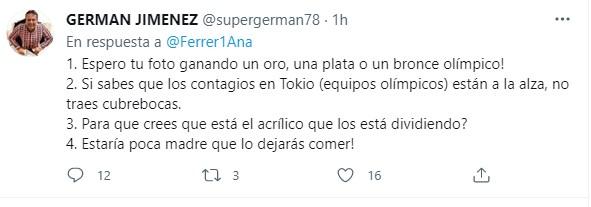 Critican a Ana Ferrer, atleta mexicana de halterofilia, tras su encuentro con Novak Djokovic