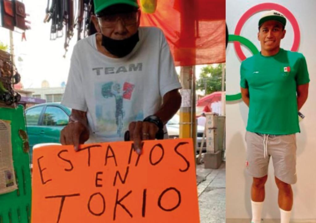 Don Hermilio, el abuelo del triatleta mexicano Irving Pérez que lo apoya con orgullo desde Morelos