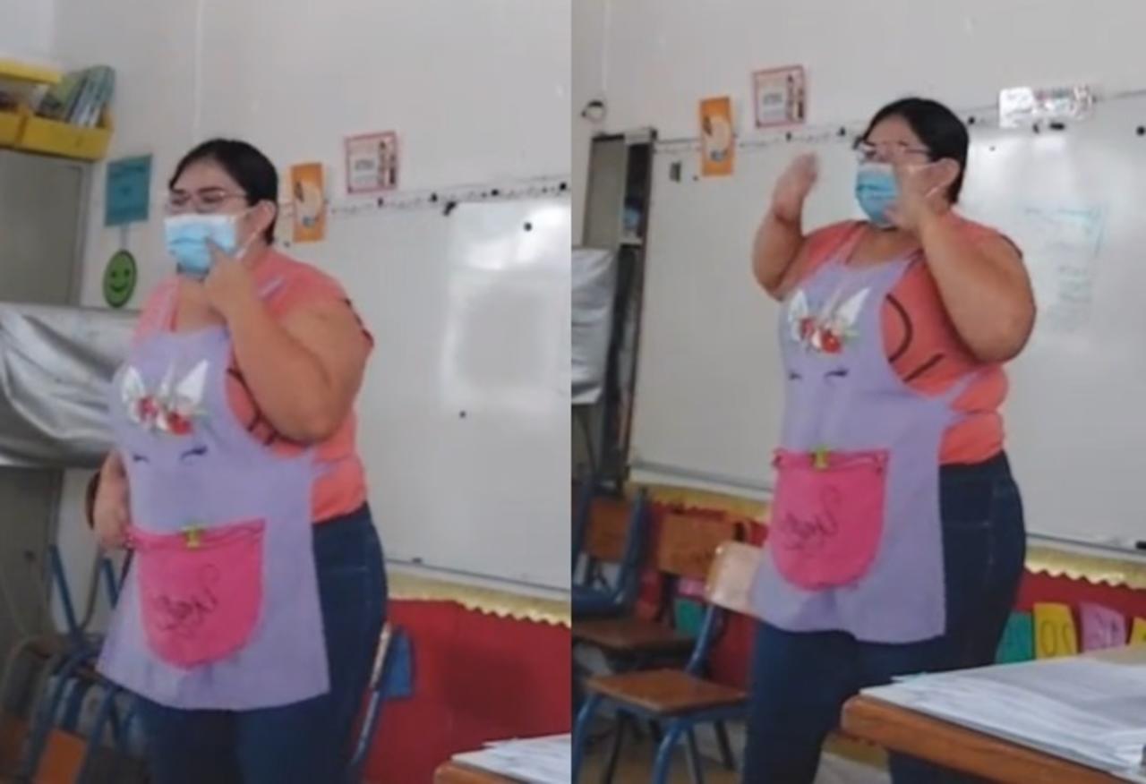 VIRAL: Maestra cambia letra de 'El Candadito' para crear conciencia sobre uso del cubrebocas