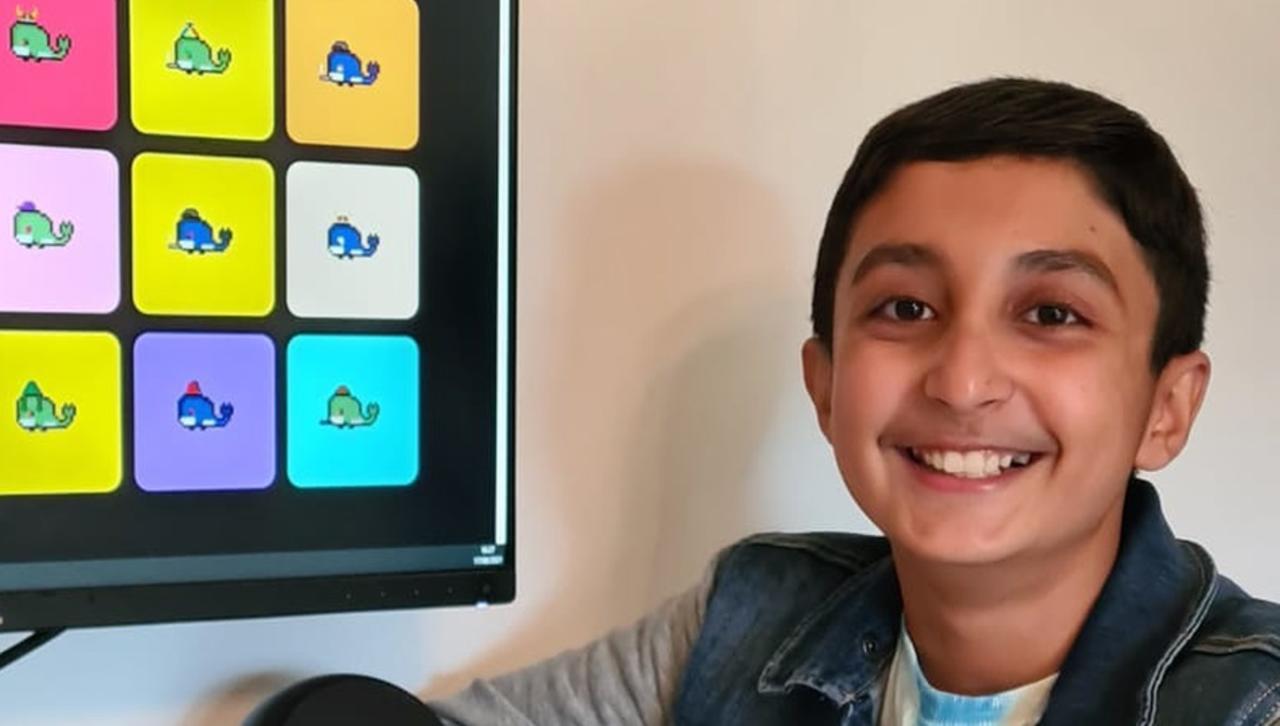 Niño de 12 años ganó casi ocho millones de pesos vendiendo NFT de ballenas