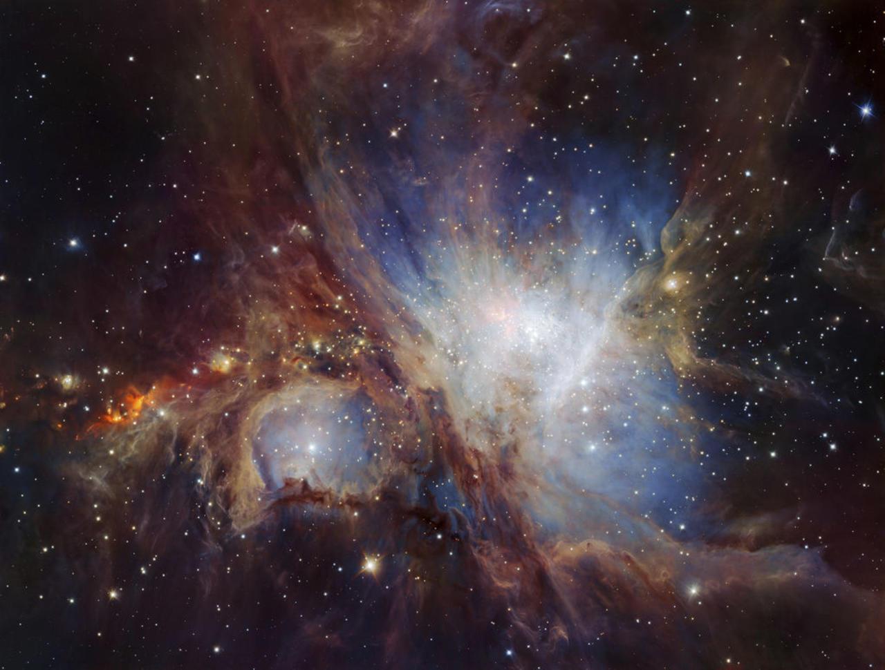 Investigadores observan los efectos del impacto de un chorro protoestelar en la Nebulosa de Orión