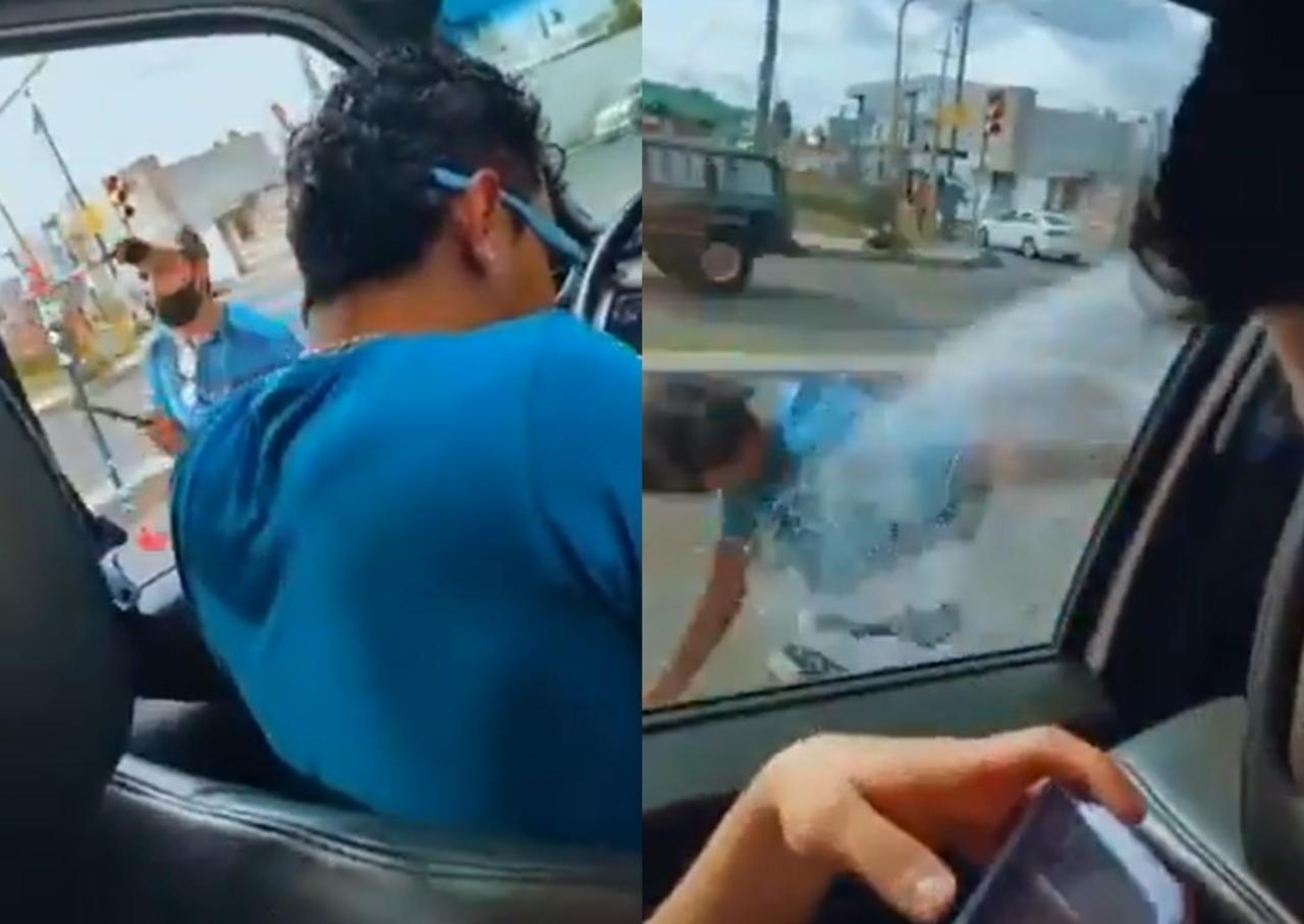 VIRAL: Jóvenes en Puebla rocían con espuma a vendedor ambulante