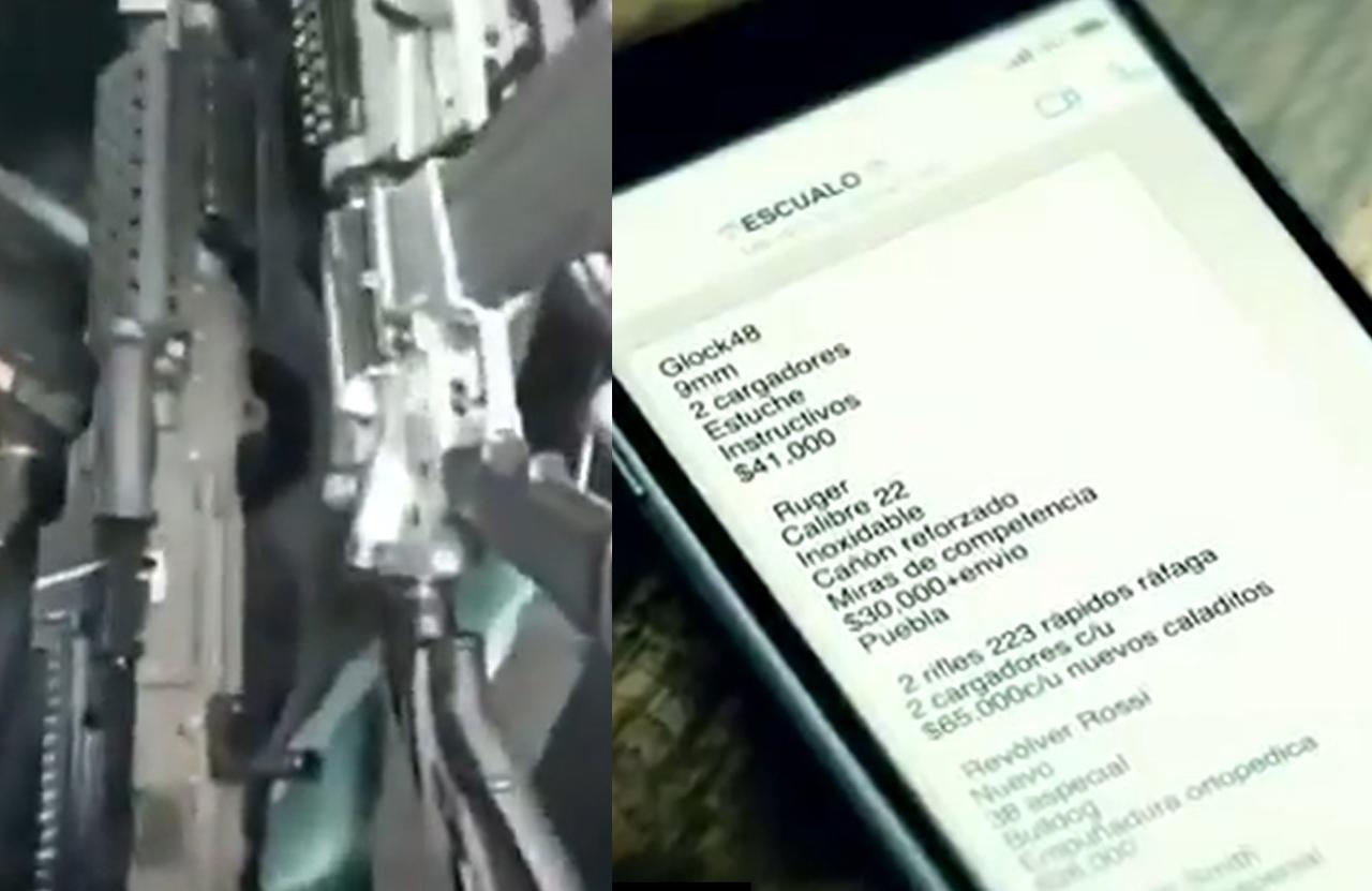 Difunden a través de WhatsApp catálogo de armas en la CDMX
