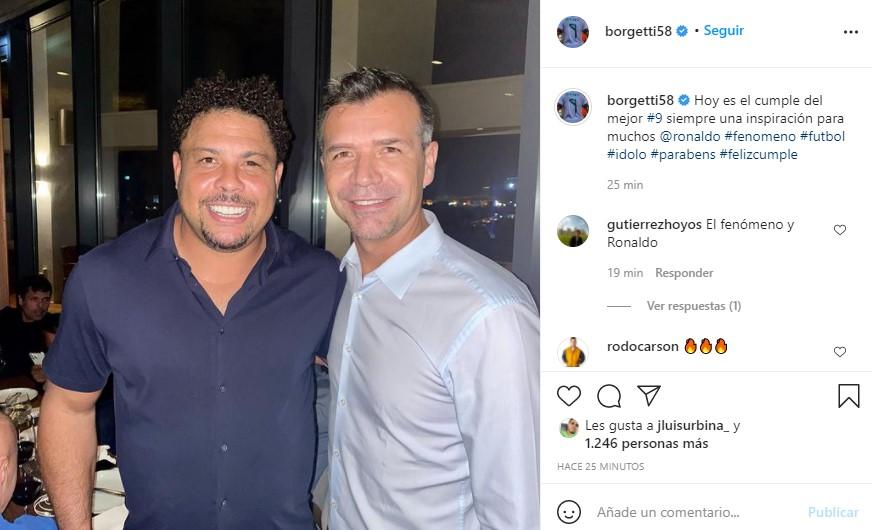 ¿Ronaldo celebró su cumpleaños junto a Jared Borgetti?