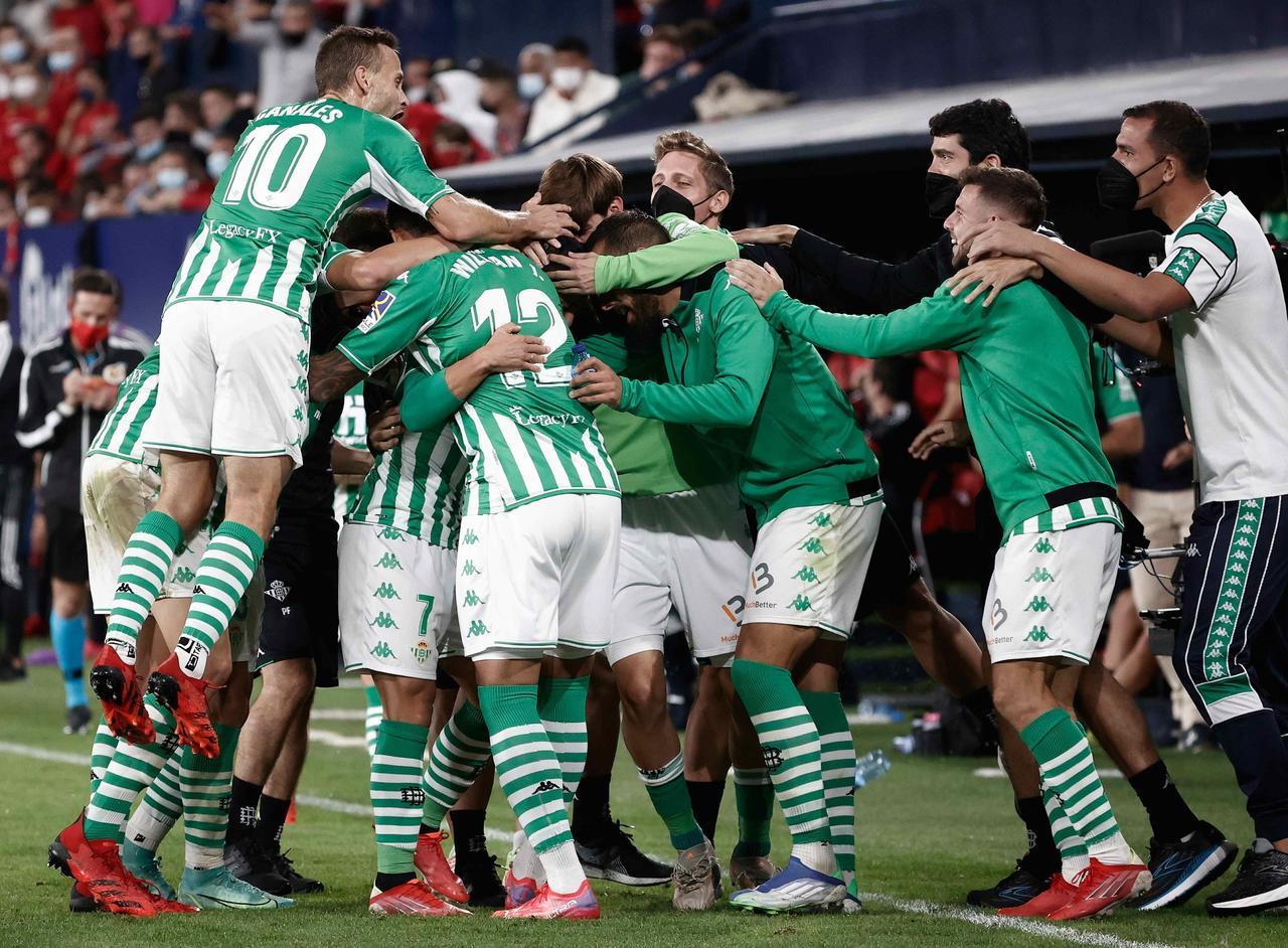 Real Betis se lleva los tres puntos ante el Osasuna