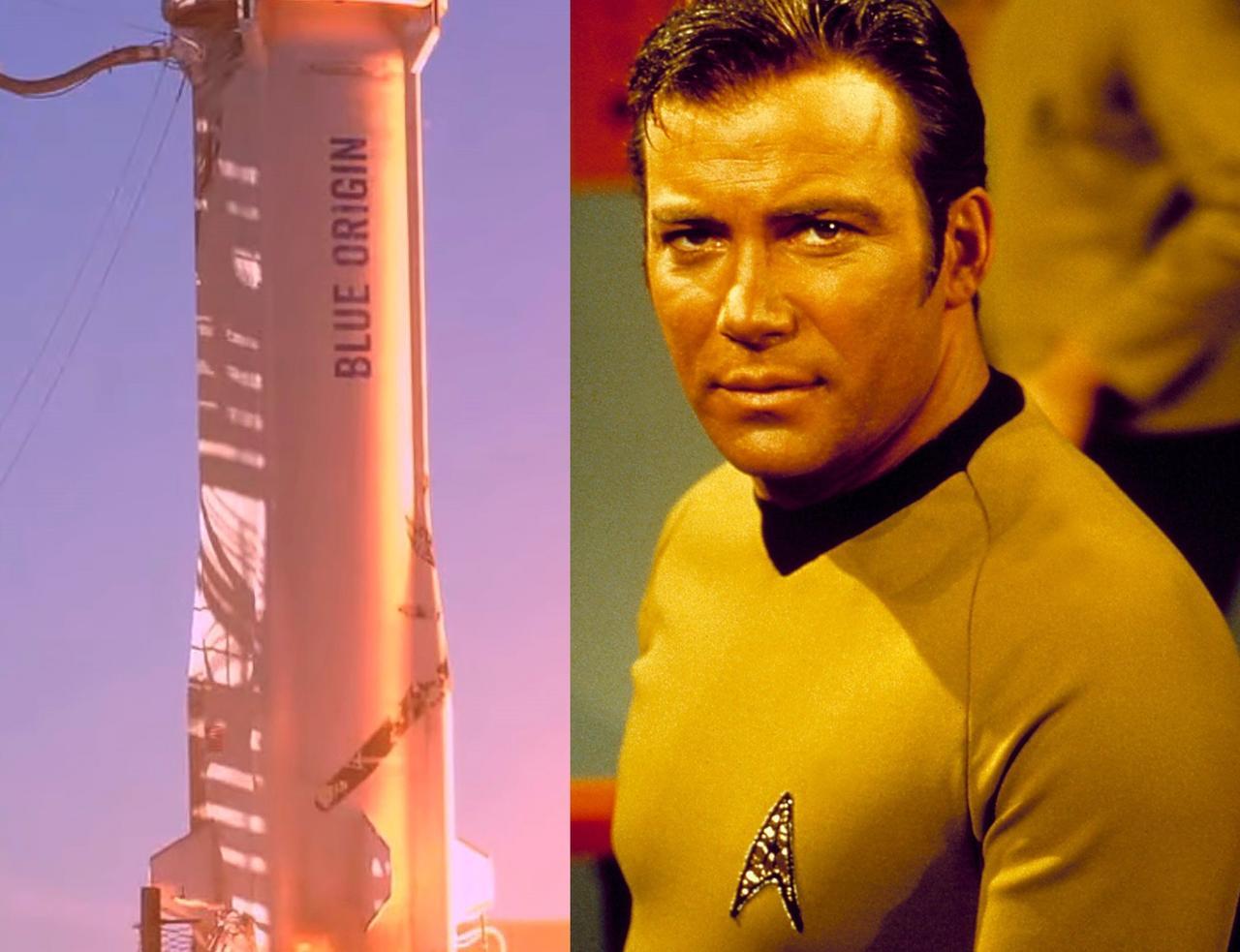 El 'capitán Kirk' llega al espacio a bordo de cohete de Jeff Bezos