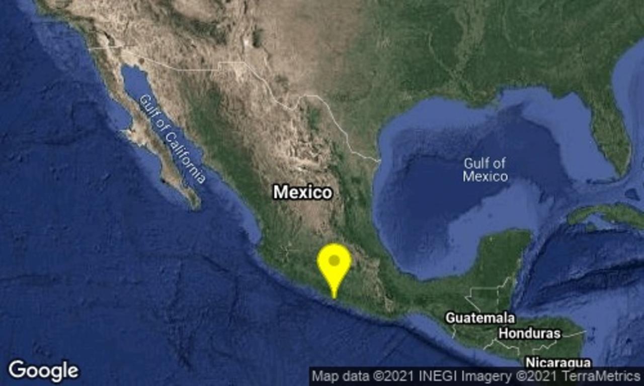 Sismo de magnitud 4.5 se reporta en Guerrero