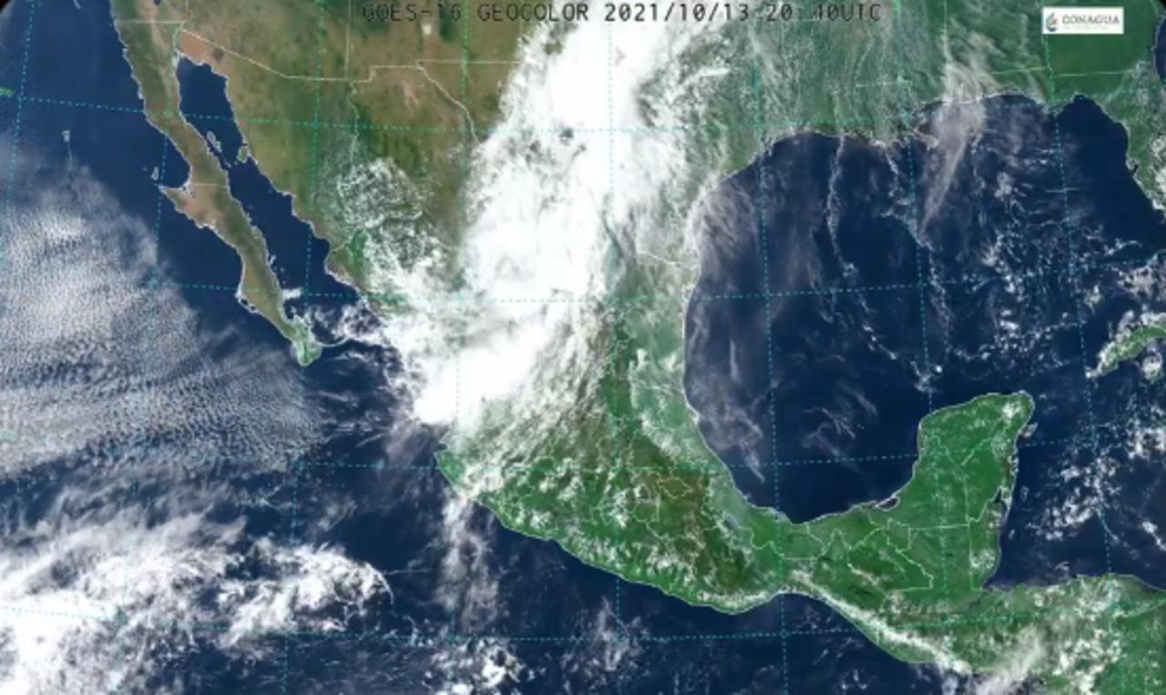 'Pamela' se degrada a depresión tropical en Durango; prevén lluvias en ocho estados